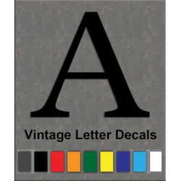 Vintage motocross vinyl decals race numbers and letters