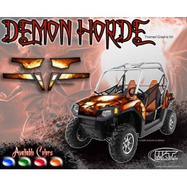 Polaris RZR800 up to 2010 Demon Horde themed graphics kit