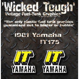 Yamaha 1981 IT175 IT250 IT465 WICKEDTOUGH tank decals graphics