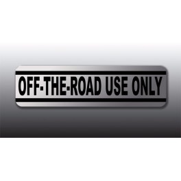 Honda Off The Road Use Only Warning Decal Graphic Chrome Finish Like Nos